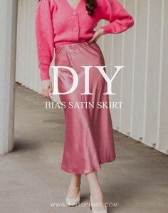 My second pattern is now out! Satin skirts are super easy to make and if you are beginner, this is a great project for you. I've made this skirt in light and heavy satin fabric… Skirt Pattern Free, Skirt Patterns Sewing, Free Pattern, Coat Patterns, Blouse Patterns, Sewing Clothes, Diy Clothes, Sewing Coat, Maxi Skirt Tutorial