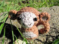 monkey, amigurumi, crochet, organic cotton, handmade with love by lamebaverde