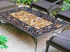 patio table with mosaic top - Google Search