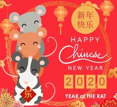 Celebrate the year of the rat! Free online Happy Chinese New Year 2020 ecards on Chinese New Year Happy Chinese New Year, Chinese New Year Flower, Chinese New Year Traditions, Chinese New Year Dragon, Chinese New Year Activities, Chinese New Year Party, Chinese New Year Poster, Chinese New Year Design, Chinese New Year Decorations