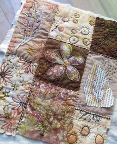 art quilt ~ nearly finished Textile Fiber Art, Textile Artists, Free Motion Embroidery, Machine Embroidery, Crazy Patchwork, Crazy Quilting, Fabric Postcards, Creative Textiles, Fabric Journals