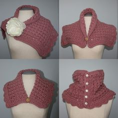 CROCHET PATTERN Elegant Neck Warmer/Capelet by speckledfrogcrochet, $4.99