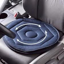 Swivel Cushion – A swivel cushion makes getting in and out of the car much easier. Two fabric discs rotate over each other reducing the normal friction that would happen.