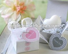 Gift Box Heart Mini Soap_Soap Wedding favor_Wedding Souvenir