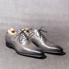 Richelieu à bout fleuri, montage Goodyear - Oxford with flowering toe, Goodyear welted