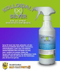 Kolloidalt Silver Spray 500 ML Silver Spray, Munnar, Spray Bottle, Cleaning Supplies, Cleaning Agent, Airstone