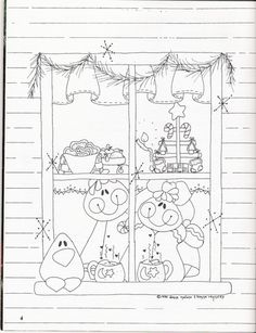 Cozy Cookies Kenna Reynolds & Donna Malone - soniartes pintura - Picasa Web Albums Painting Templates, Tole Painting Patterns, Pintura Country, Christmas Colors, Christmas Art, Painted Window Frames, Gingerbread Crafts, Christmas Gingerbread, Christian Crafts