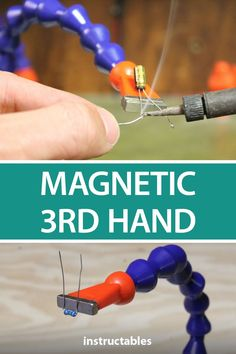 Hand Hack a hand to be magnetic so you can easily solder pieces for your electronics projects. Hack a hand to be magnetic so you can easily solder pieces for your electronics projects. Electronics Projects, Cool Tools, Diy Tools, Diy Home Decor Projects, Projects To Try, Rare Earth Magnets, Wine Bottle Crafts, Soldering, Project Yourself
