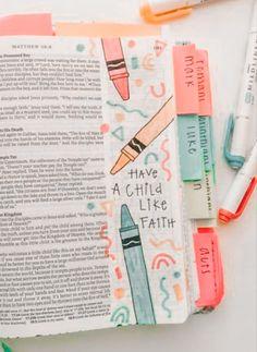 Bible Study Notebook, Bible Study Journal, Scripture Study, Bible Art, Bible Drawing, Bible Doodling, Bible Verses Quotes, Bible Scriptures, Cute Bibles