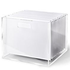 Fabulous acrylic hanging file box by Russell + Hazel and available at UrbanGirl.com  http://www.urbangirl.com/Products/Russell--plus--Hazel-Acrylic-File-Box__RAH80433.aspx