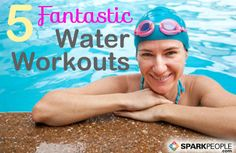 5 Fun Ways to Dive In to Aquatic Exercise: There's more to water #workouts than aqua aerobics. Water is good for the joints, provides resistance, and keeps the body cool so your workouts seem less intense than they really are. Here's how to get started with water #exercise. | via @SparkPeople #fitness #summer