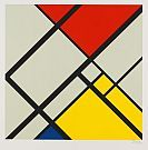 Ohne Titel. César Domela (1900-1991) was a Dutch sculptor, painter, photographer, and typographer, and a key member of the De Stijl movement.  In 1925, he became the youngest member of De Stijl, working closely with the famed Theo van Doesburg and Piet Mondrian.