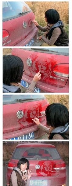Marylin Monroe..i would so not wash my car if i came out of the grocery  store to this