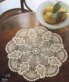 Classic Pineapple Crochet Doily Ecru, Table Centerpiece, Crochet Placemat, Homedecor $48 via @Shopseen