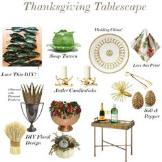 Thanksgiving Tablescape on MinkSunday.com today!