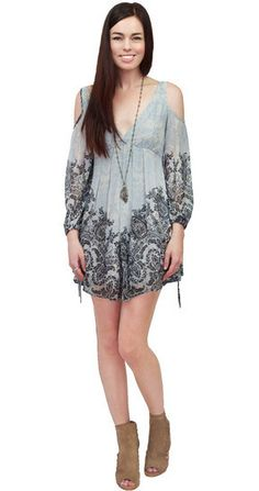 Free People Penny Lover Dress in Ivory Combo at www.shopblueeyedgirl.com