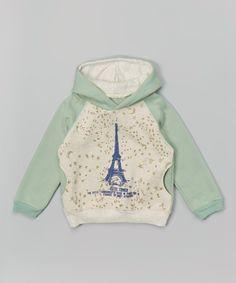 Leighton Alexander Mint & Gray Eiffel Tower Hoodie - Infant, Toddler & Kids   zulily