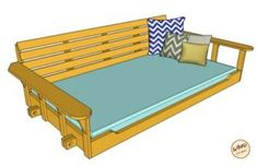 Take a few days on a weekend to make this porch bed swing. We have the plan and a video to help make your porch bed swing.