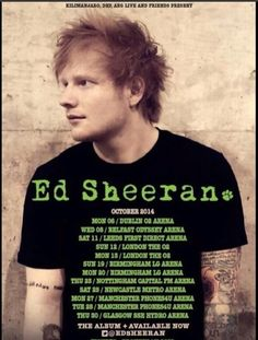 UK and Ireland Tour dates. There's one on my birthday but here I am in America... :(