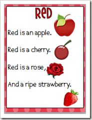Color word poems - a GREAT Pinterest site with lots of learning aids:  http://pinterest.com/aliknipfing11/school-ideas/