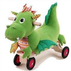 WONDERWORLD Puffy Dragon Ride-on .          I am singing Puff the Magic Dragon!