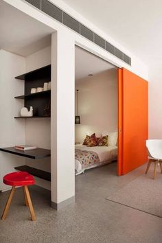 feature colour contemporary internal pocket door