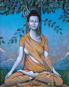 Female Buddha images | Female Buddha Acrylic on canvas 81cm x 100cm