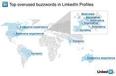 "Looking for a job? Top overused buzzwords on LinkedIn. Here is a clue: Get rid of ""Extensive Experience"" and ""Motivated"" from your resume/profile.    Who knew the Italians were so ""innovative"" and the Brazilians so ""dynamic?"""