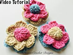 Free Crochet Video Tutorial  By AnnooCrochet Designs