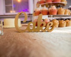 """A Chic Wedding Table - Is Yours Pretty Enough? A handmade """"Cake"""" helps add charm to any wedding dessert table // Handcrafted Table Signs and Event Decor, Gifts & Accessories at www.ZCreateDesign... or ZCreateDesign on Etsy"""
