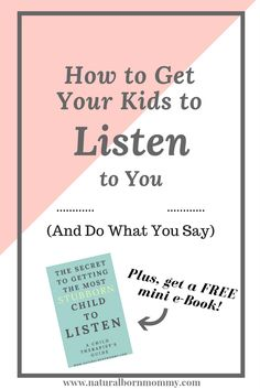 "Do you have a hard time getting your child to follow directions or comply with your demands? Here is how to get your kids to listen to you and do what you say. These parenting / teacher tips from a child therapist will help you to improve your child's behavior. Plus, get a free reward chart and an e-book on how to get a ""stubborn"" child to listen."