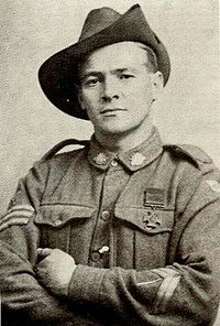 Joergen (Jorgan) Jensen was born in Denmark. He came to Australia as a young man and was naturalised in 1914. He enlisted in the 10th Battalion and was sent to Gallipoli in September 1915. Following the evacuation he transferred to the 50th Battalion.   In Noreuil, France, when an Australian advance was checked by a manned enemy barricade, Jensen threw in a bomb and rushed the post. He then threatened the occupants with two more bombs, having extracted the pin of one of them with his teeth…
