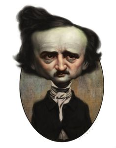 January 19: Edgar Allan Poe was born in 1809.  A man who needs very little introduction Poe was famous for his tales of mystery and the macabre. (portrait by Court Jones).
