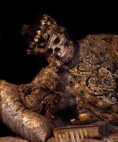 The elaborately dressed skeleton of St Valentine in Waldassen Abbey, Bavaria. Happy Valentine's Day!   Photo by Toby de Silva