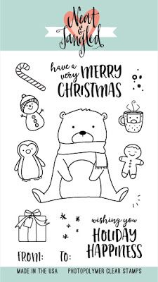 Hello and happy Wednesday! I'm going all Christmassy again this week with this cute little bear from the Beary Merry Neat & Tangled stamp se. Merry Christmas Wishes, Very Merry Christmas, Christmas Cards, Christmas Doodles, Christmas Things, Tarjetas Stampin Up, Neat And Tangled, Felt Christmas Decorations, Christmas Ornaments