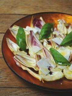 citron, anchois, artichaut violet, huile d'olive, parmesan, poivre 5 baies, sel, basilic