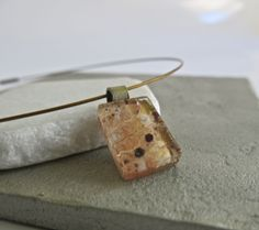 Metallic Hand Painted Fused Glass Choker Necklace, Brass,Copper,Gold by Glassimo on Etsy