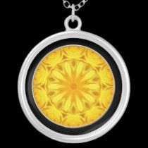 Yellow Rose Kaleidoscope (#1) necklaces by Roses_Roses