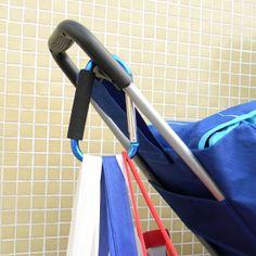 Blue Largest Jumbo Snap Hook Stroller Hook Hanger Bags Holder Carrier Carabiner
