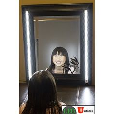 This slim and quality make up vanity mirror LED light package has touch sensor on each light. It's great for lighting up your make-up mirror. It gives you a professional and clean look while you doing Makeup Vanity Lighting, Diy Makeup Vanity, Makeup Storage, White Led Lights, Mirror With Lights, Make Up Lighting Mirror, Make Up Mirror, Makeup Vanity Mirror, Vanity Mirrors