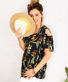 Bluse mit trendy Schulterausschnitt #plussize