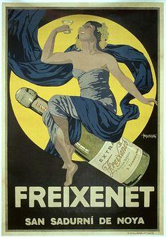 Freixenet cava poster from 1923