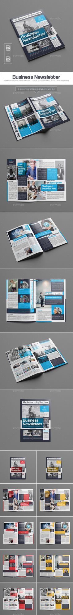 Newsletter Template Newsletter templates, Business and Print - company newsletter template free