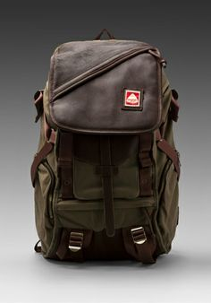 JANSPORT Skip Yowell Collection Pleasanton Backpack in Army Green - Jansport