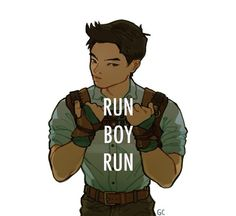 This world is not meant for you. Run boy run, they're trying to catch you.