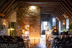 A wonderful venue for a wedding. Winter wedding in the attic of Castle Menzies, Aberfeldy, Scotland.