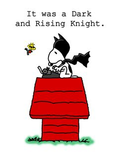 """Dark and Rising"" #Snoopy // Snoopy in the batman hood is the best part of this. I love Woodstock as robin!"
