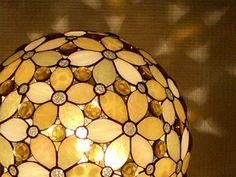 丸花置きランプ