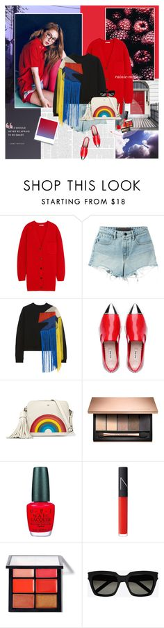"""Brighter than the sun"" by rainie-minnie ❤ liked on Polyvore featuring Emma Watson, Chloé, Alexander Wang, Christopher Kane, Anya Hindmarch, OPI, NARS Cosmetics, MAC Cosmetics and Yves Saint Laurent"