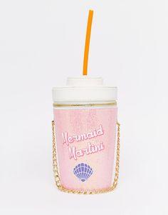 Skinnydip Mermaid Martini Novelty Cross Body Bag- I need this! Womens fashion, // Pinterest- @hobokinandco